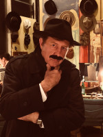 Glenn playing Major Metcalf in Agatha Christie's, The Mousetrap, at Crown City Theater in North Hollywood.
